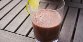 soja shake mit kakao und banane