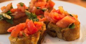 bruschetta mit tomate vegan