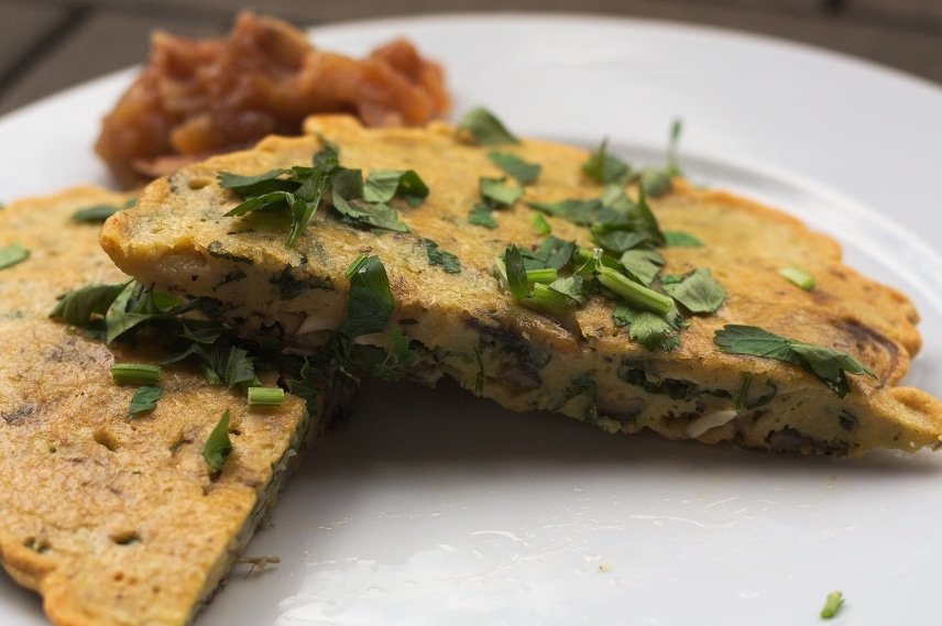 kichererbsen omelette