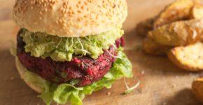 veganer rote bete burger