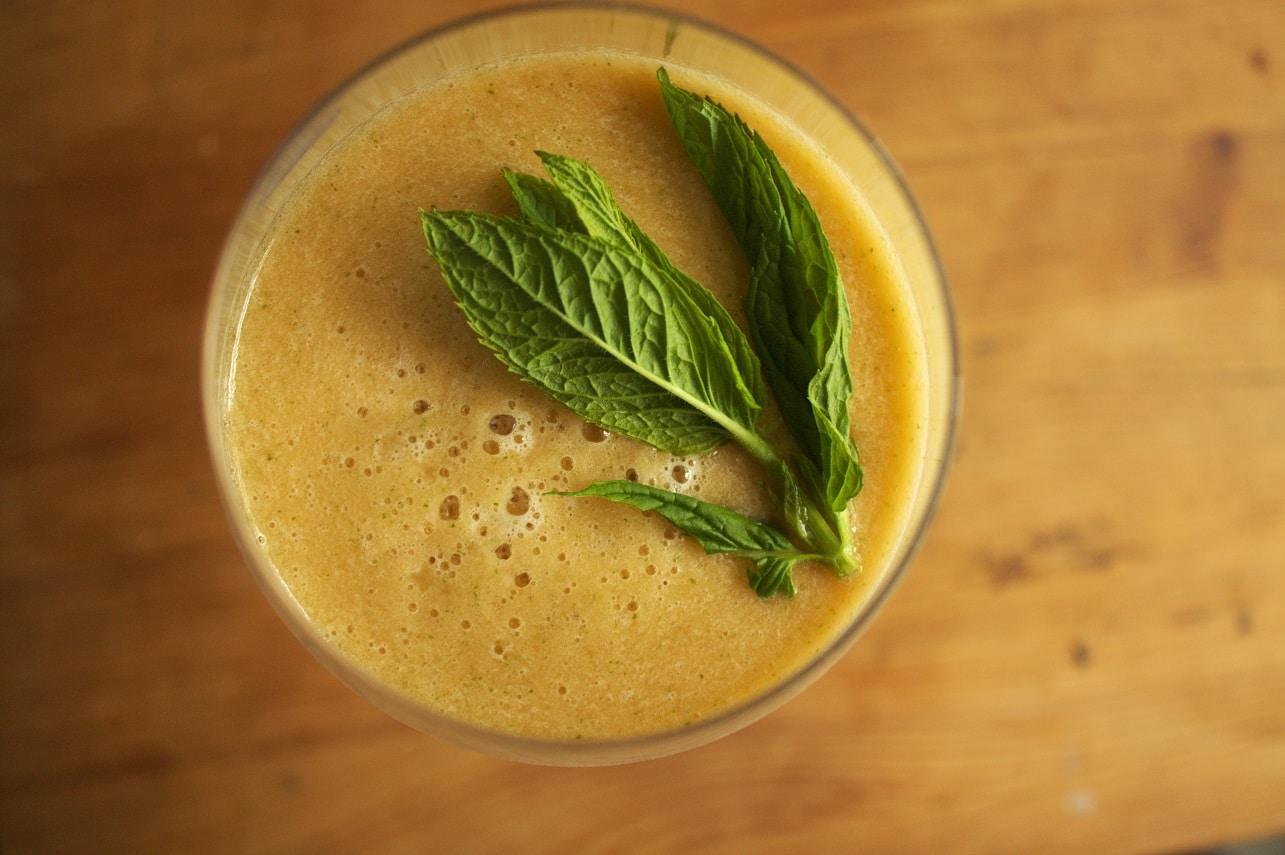 Cantaloupe-Melonen Drink