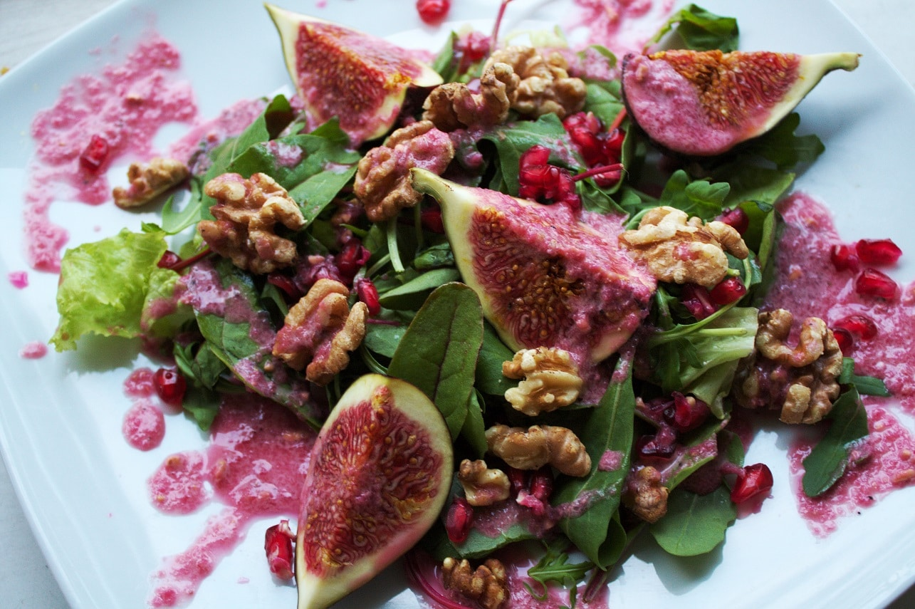 Feigensalat mit Granatapfel