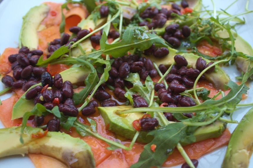Papayasalat mit Avocado
