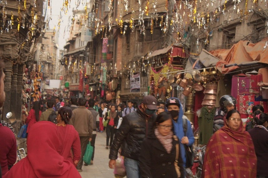 Einkaufsstraße in Kathmandu