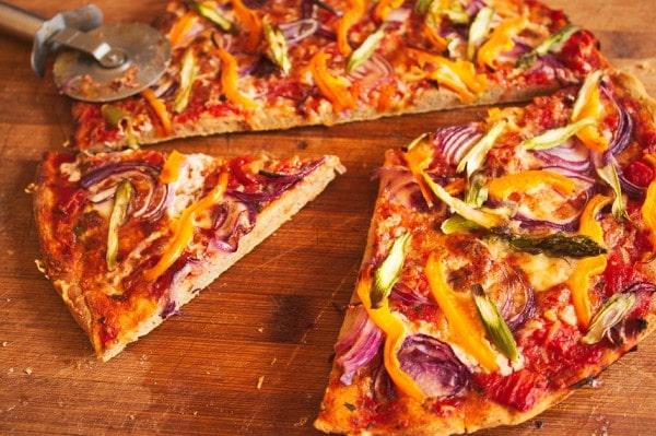 Pizza vegan glutenfrei