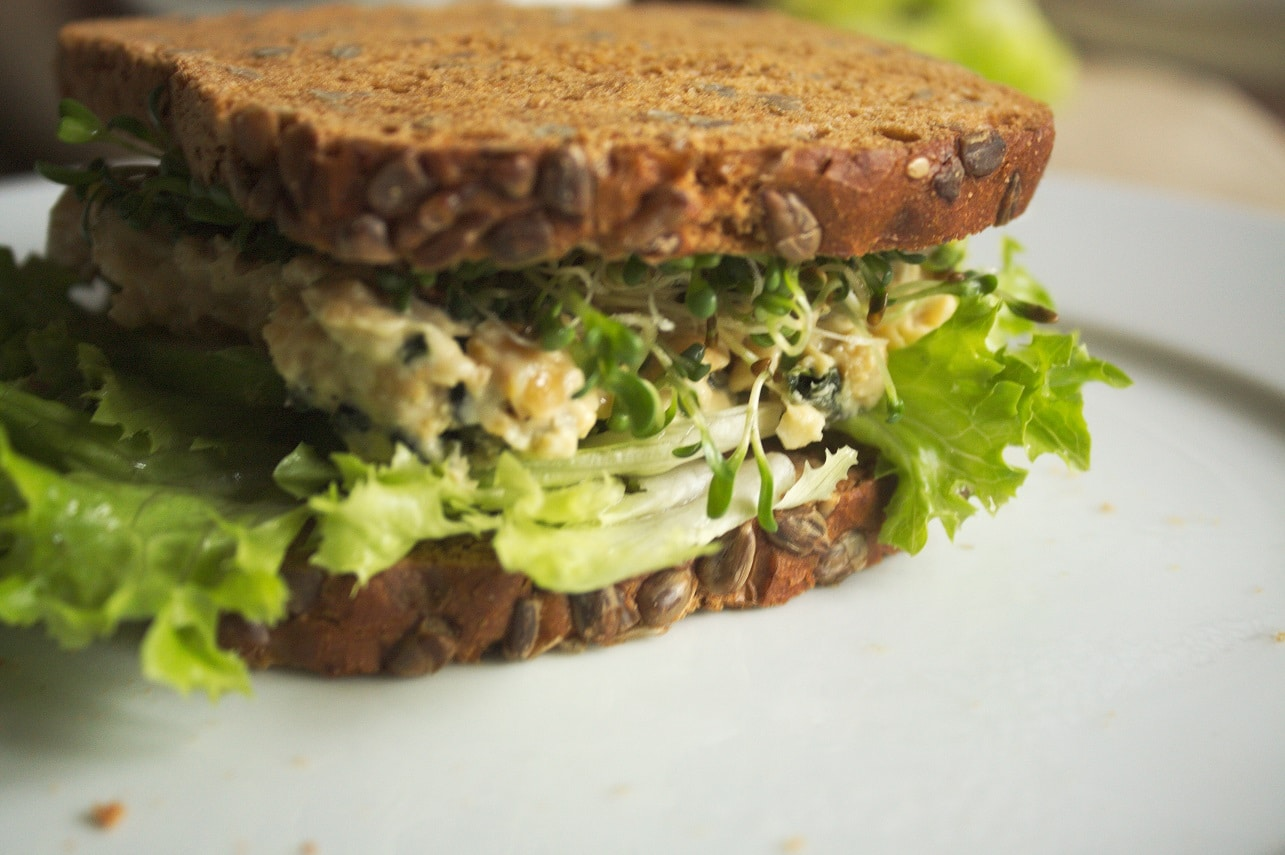 kichererbsen sandwich vegan