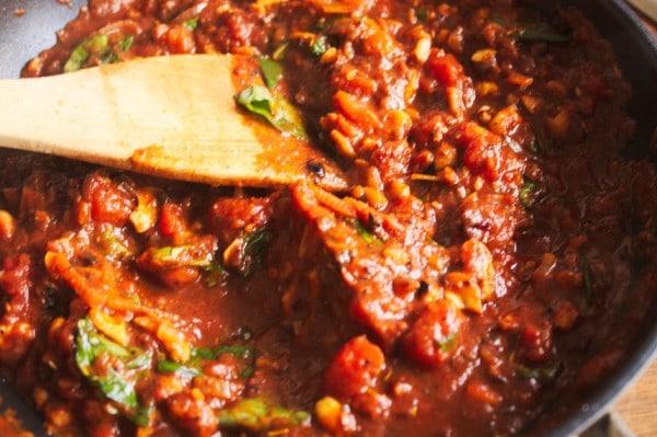 sauce für nuss bolognese