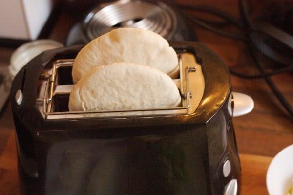 pitbrot toasten