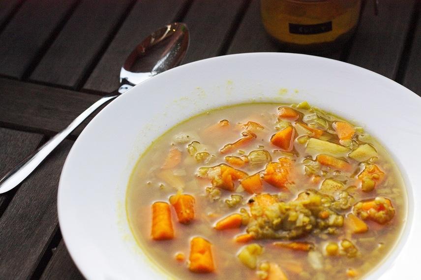 linsensuppe mit süßkartoffel