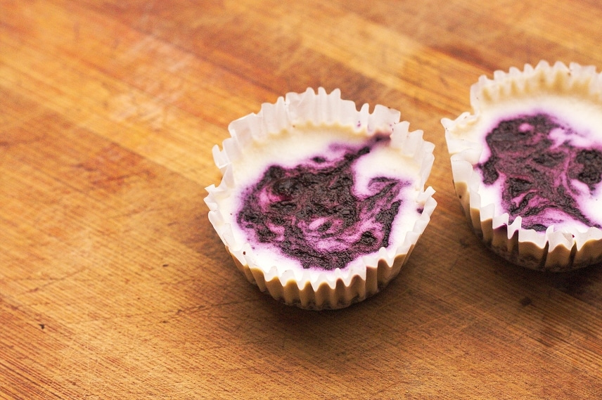 mini cheesecake mit blaubeeren
