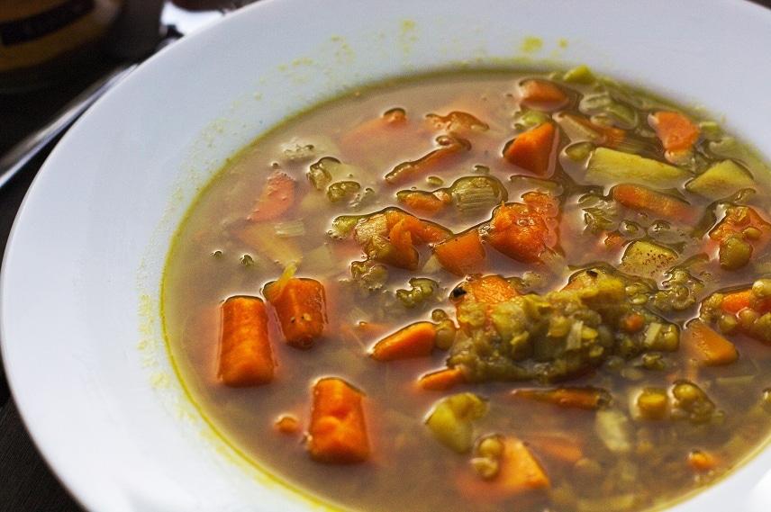 süßkartoffel linsensuppe