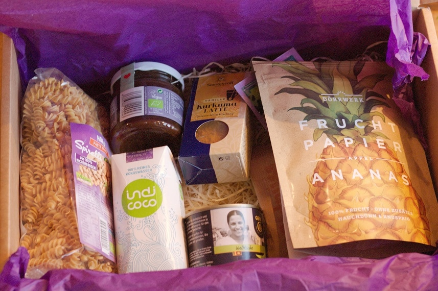 inhalt vegan box glutenfrei