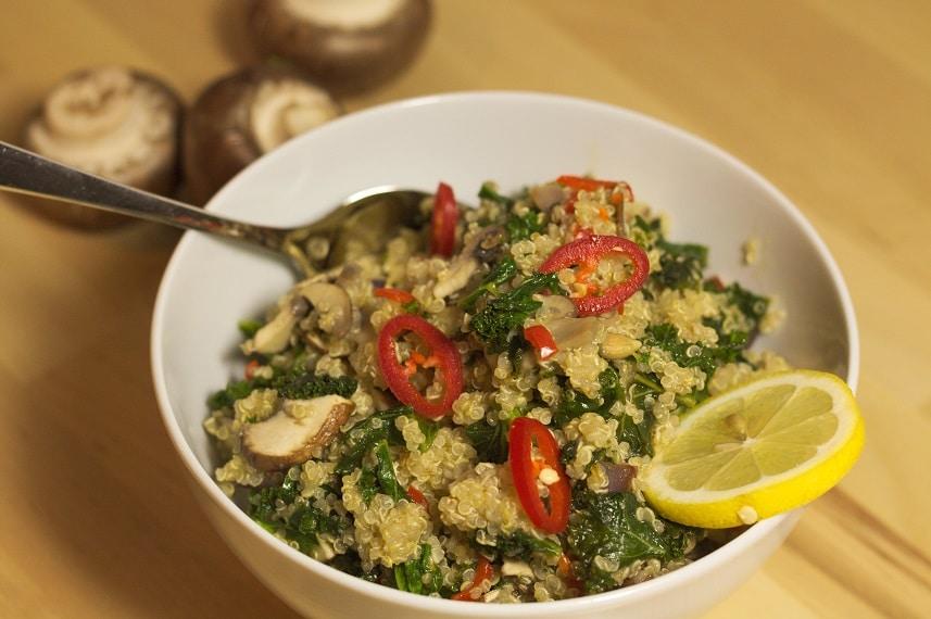quinoa mit grünkohl