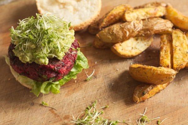 rote bete burger vegan glutenfrei