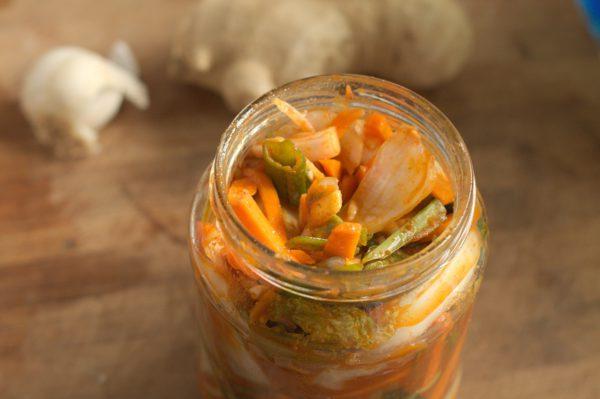 kimchi abfüllen