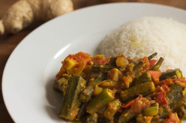veganes bhindi masala