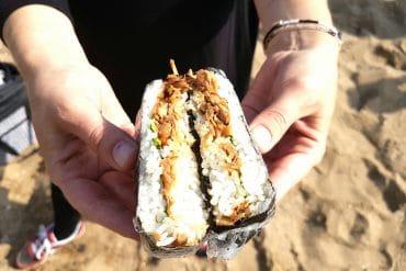 onigirazu mit jackfruit glutenfrei vegan