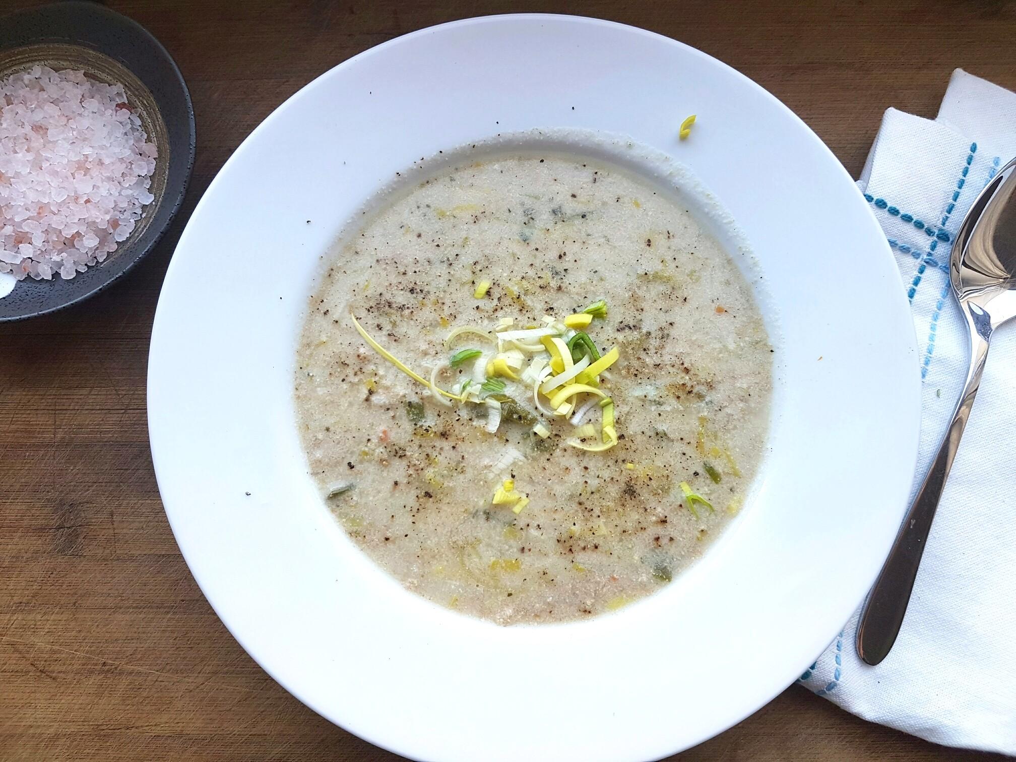 Käse-Lauch-Suppe mit Hack (vegan & glutenfrei) | Vegane Rezepte