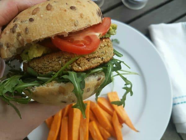 falafel burger vegan