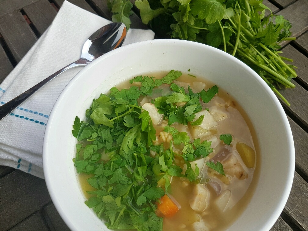 Buchstabensuppe mit Gemüse