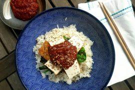 Gochugaru Tofu vegan & glutenfrei