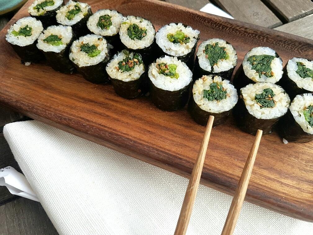 spinatsushi vegan und glutenfrei
