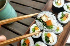 sushi mit tofu vegan und glutenfrei