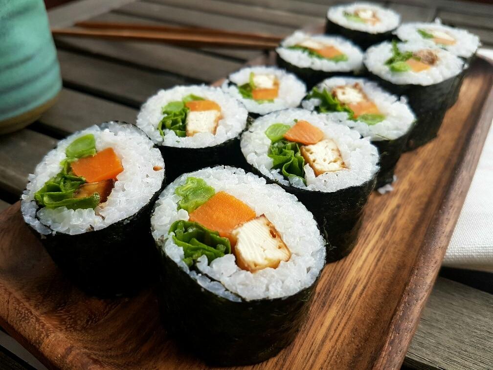 tofu sushi vegan und glutenfrei