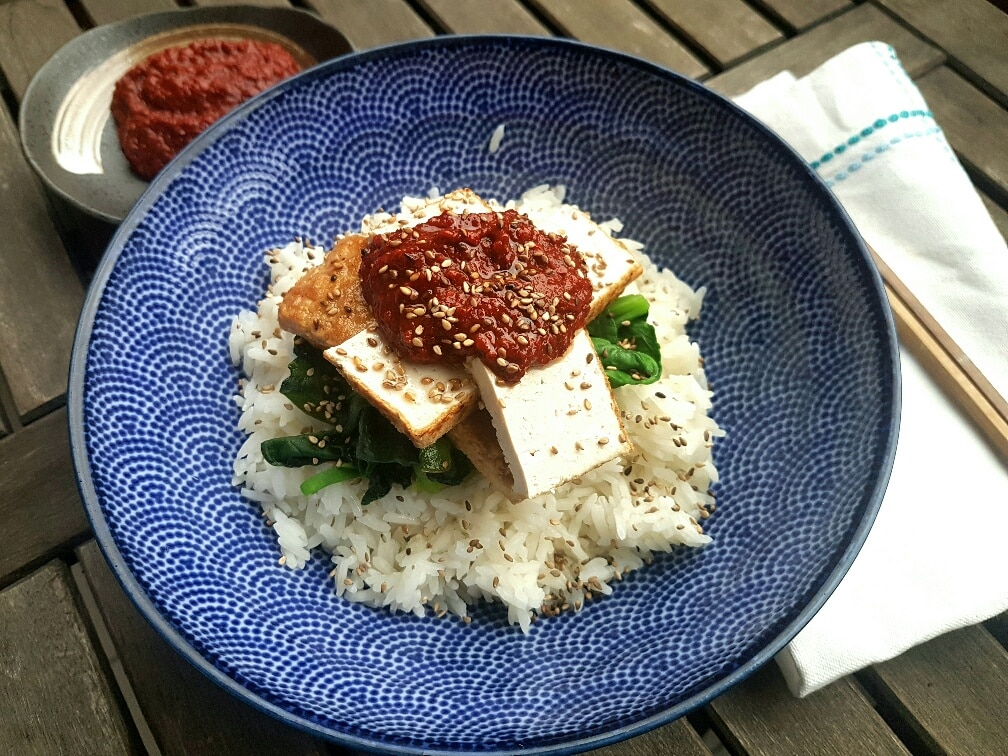 veganer Gochugaru Tofu glutenfrei