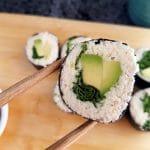 Blumenkohl Sushi rohvegan