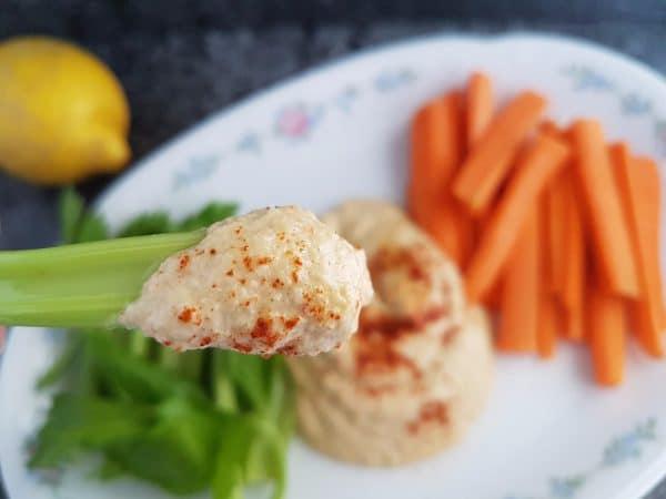 Zucchini-Hummus vegan, glutenfrei und rohkost