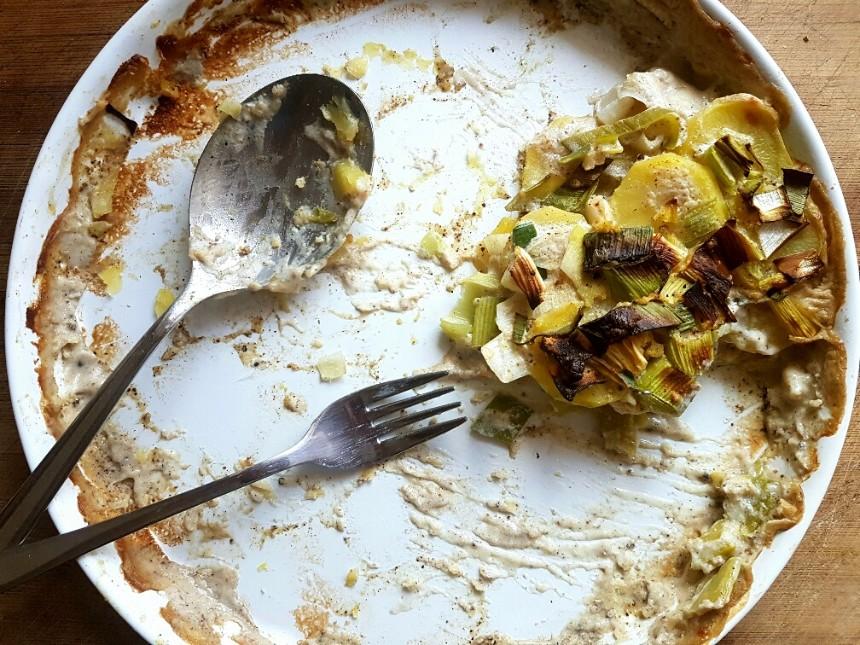 kartoffel-lauch-auflauf vegan & glutenfrei