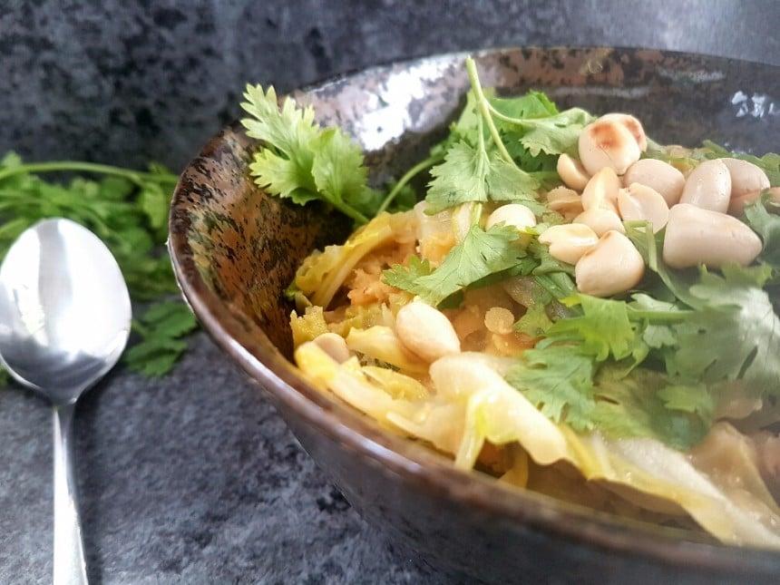 Maiwirsing curry vegan und glutenfrei