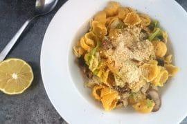 Orecchiette mit Spitzkohl vegan & glutenfrei