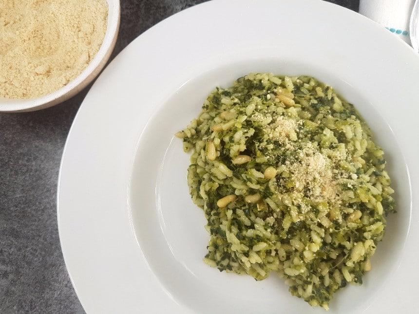 Risotto mit Schwarzkohl vegan und glutenfrei