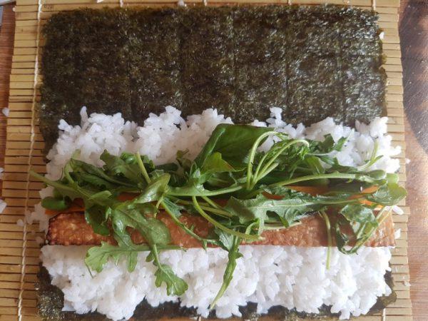 Tempeh Sushi rollen