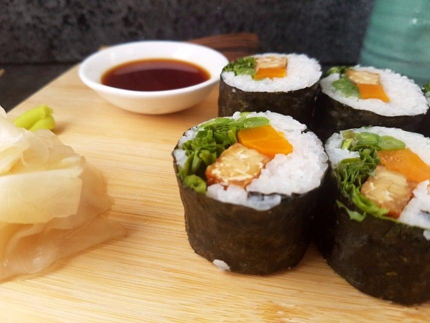 Tempeh Sushi vegan & glutenfrei