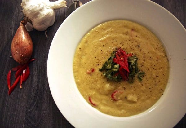 vegane Kohlrabi-Kokos-Suppe
