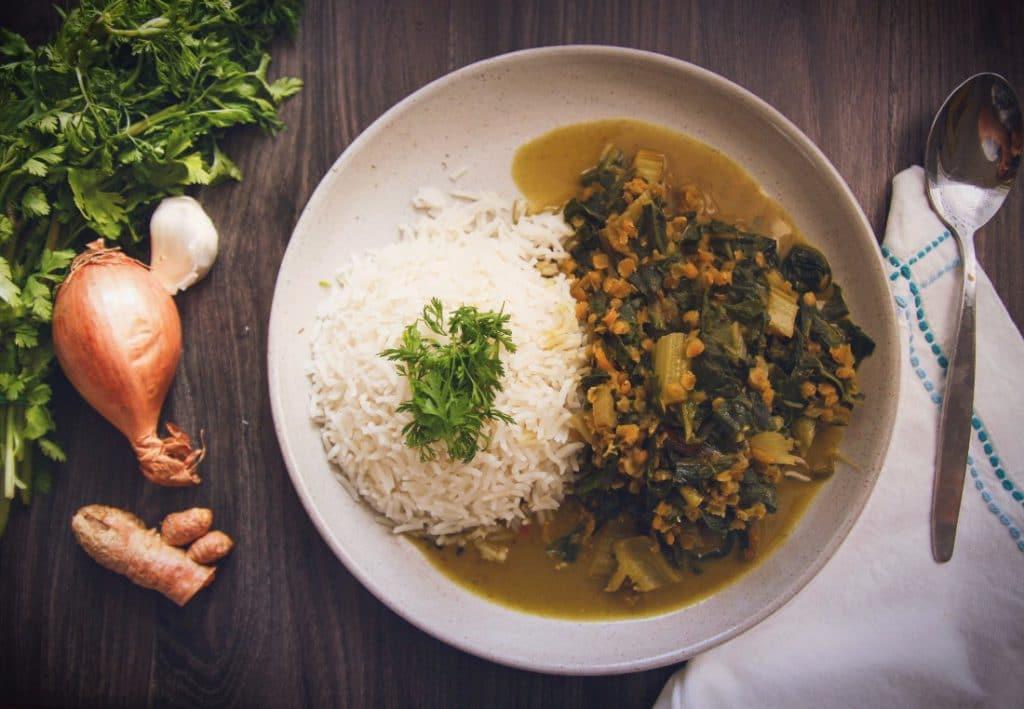 veganes mangold-linsen-curry glutenfrei