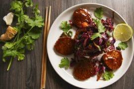 Asiatischer Rotkohl mit Tempeh vegan & glutenfrei