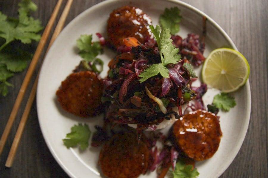Rotkohl aus asiatischer Art vegan und glutenfrei