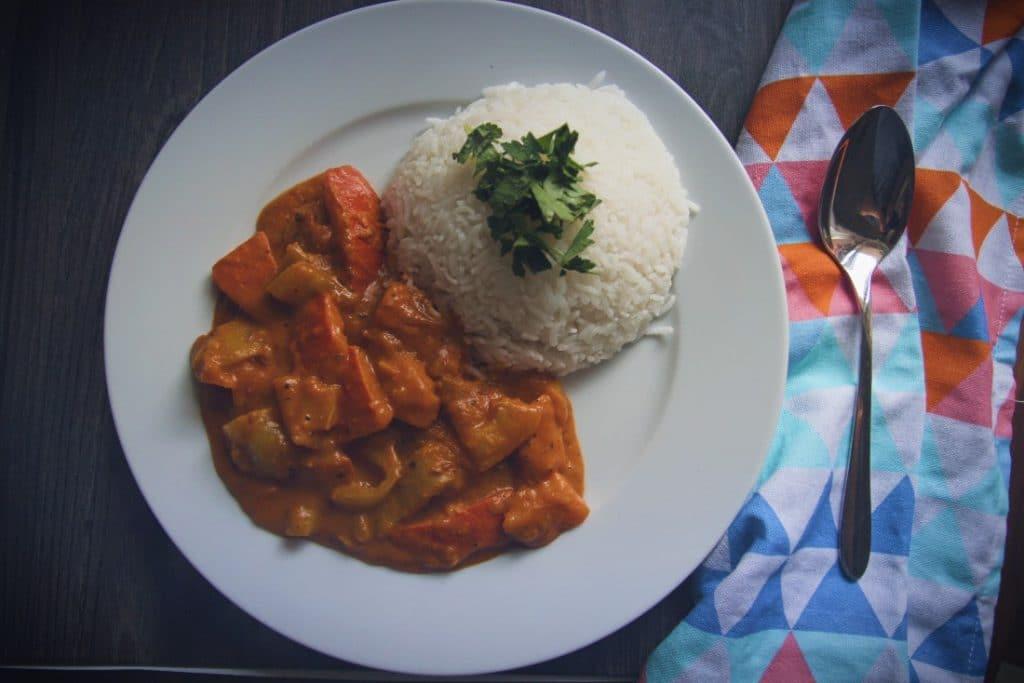 veganes Kürbisgulasch