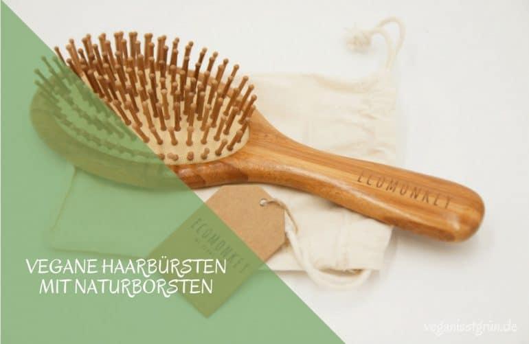 Vegane Haarbürsten mit Naturborsten aus Bambus
