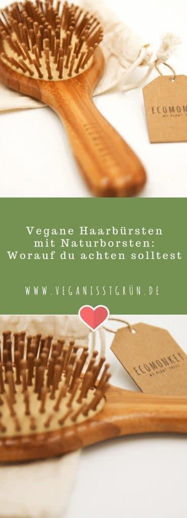 Vegane Haarbürsten mit Naturborsten aus Bambus von ECOMONKEY Pinterest