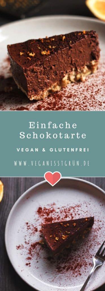 Einfache Schokotarte vegan und glutenfrei