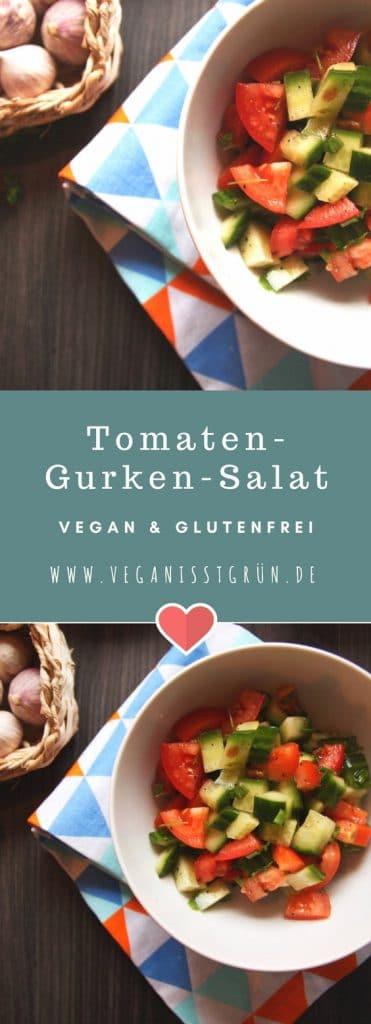 tomaten-gurken-salat vegan und glutenfrei pinterest