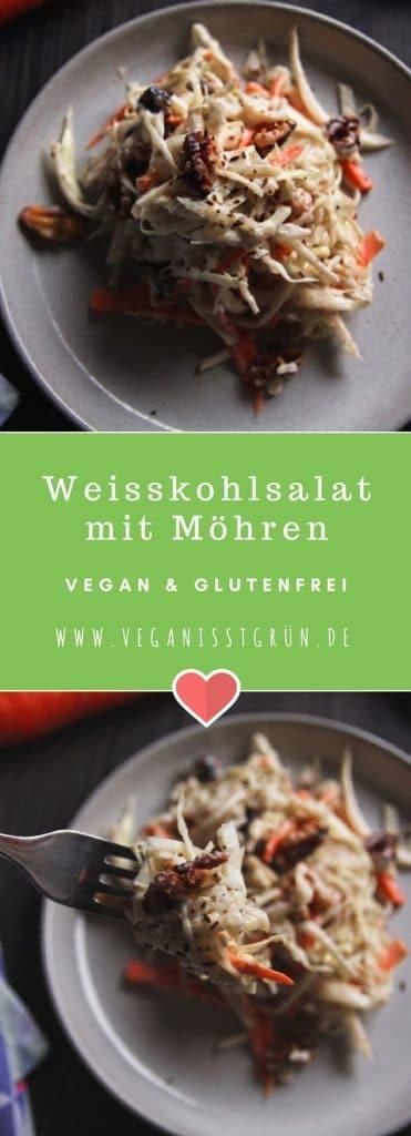 weisskohlsalat mit möhren und cranberries vegan & glutenfrei