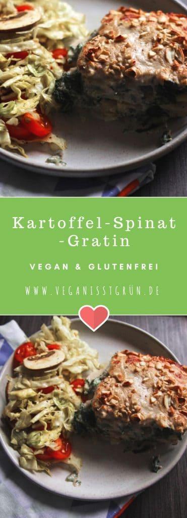 Kartoffel-Spinat-Gratin vegan & glutenfrei-min