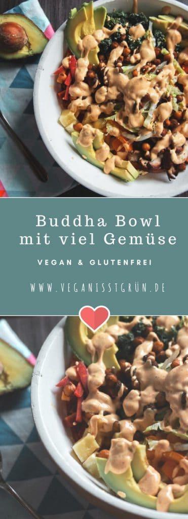 vegane buddha bowl mit avocado und süßkartoffel glutenfrei