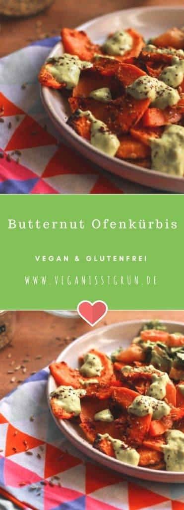 Veganer Butternut Ofenkürbis Butternuss glutenfrei